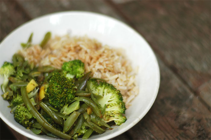 Simple-Broccoli-and-Rice