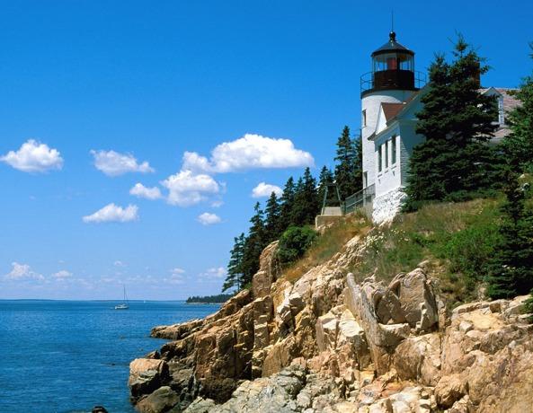 Bass Harbor Head Lighthouse Maine 593x460