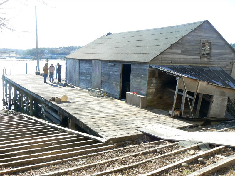 Ralph Stanley Original Boat Shop and Wharf from NE 800x600