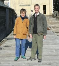 Anne and Dave at Ralph Stanley Boatyard 333x371