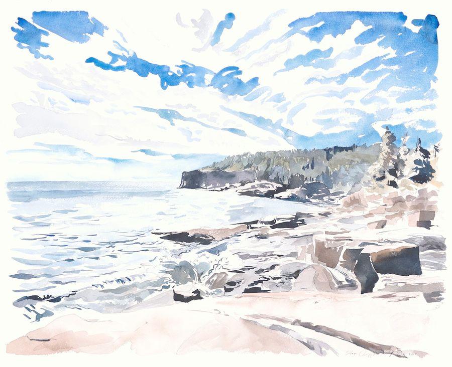 Otter Cliffs Sunlight by Emily Dodge